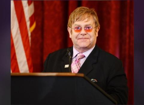 News video: Elton John Says Jesus Would Have Supported Same-Sex Marriage, Praises